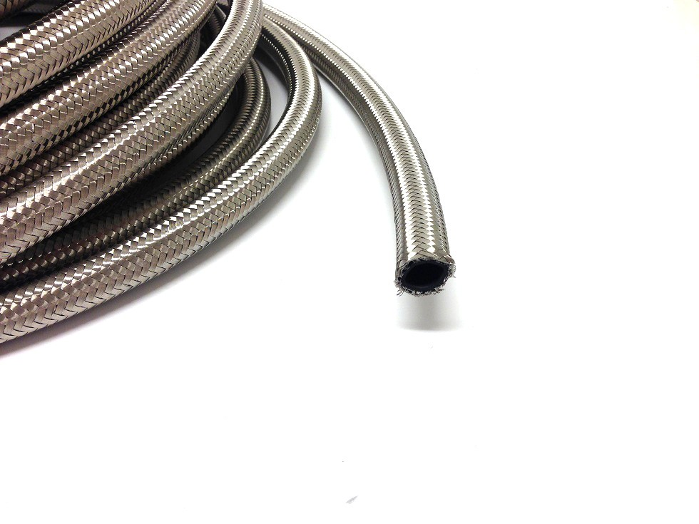 AN 10 Stålomspunnen slang
