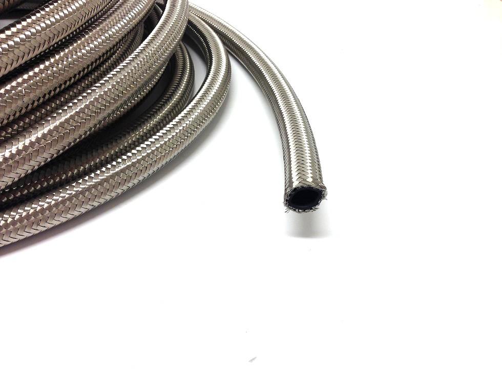 AN 4 Stålomspunnen slang