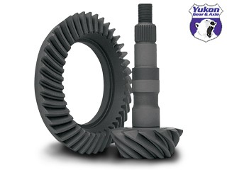 "High performance Yukon Ring & Pinion gear set for GM 8.5"" & 8.6"" in a 3.23 ratio"
