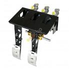 OBP hängande pedalställ 2 pedaler 3x huvudcylindrar