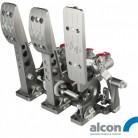 OBP Golvmonterat pedalställ 3 pedaler 3x Alcon huvudcylindrar V3 billet cnc-aluminium